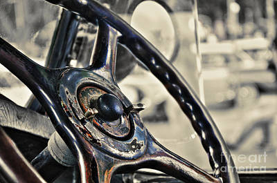 Photograph - 1924 Packard - Steering Wheel by Kaye Menner