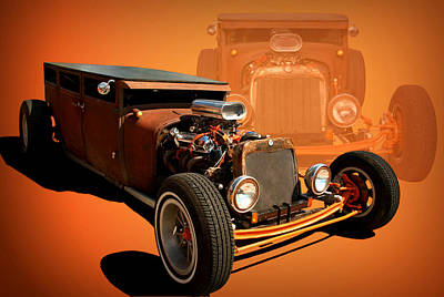 Photograph - 1925 Dodge Flat Top Sedan Rat Rod by Tim McCullough