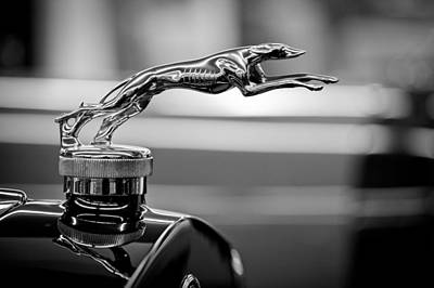 1925 Lincoln Town Car Hood Ornament Art Print by Sebastian Musial
