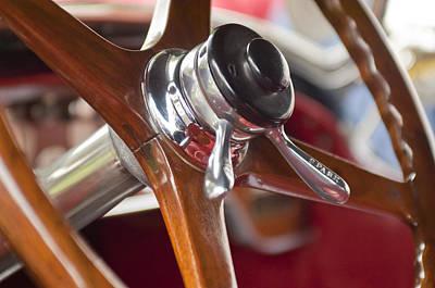 Photograph - 1925 Stutz 695 Speedway Sportster Steering Wheel by Jill Reger