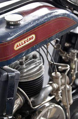 Photograph - 1926 Allegro Motorcycle by Jill Reger