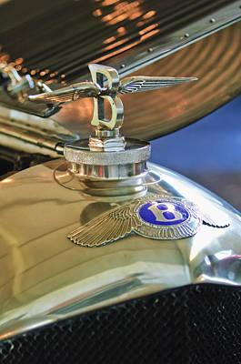 Photograph - 1927 Bentley 6.5 Litre Sports Tourer Hood Ornament by Jill Reger