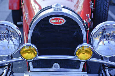 Photograph - 1927 Bugatti Replica Grille Headlights by Jill Reger