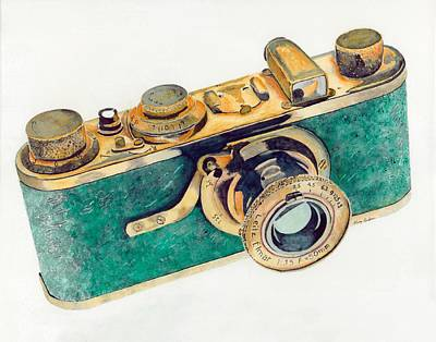 35mm Painting - 1927 Luxus Leica Camera by Gary Roderer