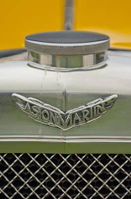 Photograph - 1928 Aston Martin T-type Bertelli Short-chassis Sports Hood Ornament by Jill Reger