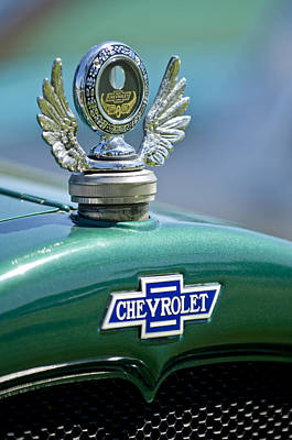 Photograph - 1928 Chevrolet Stake Bed Pickup Hood Ornament by Jill Reger