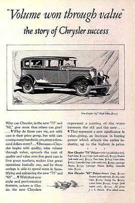 1928 Chrysler 75 Royal Sedan Art Print