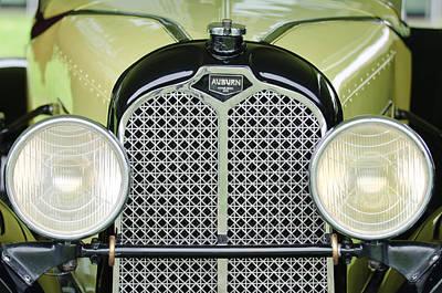 Photograph - 1929 Auburn Carbiolet Convertible Grille by Jill Reger