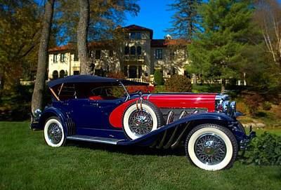 Photograph - 1929 Duesenberg Model J-129 Lebaron Dual Cowl Phaeton by Tim McCullough