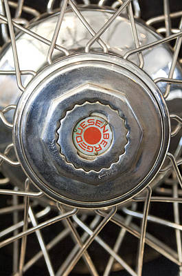 Photograph - 1929 Duesenberg Model J Convertible Sedan Wheel Emblem by Jill Reger