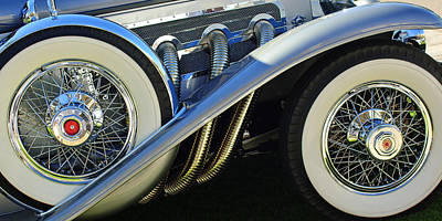 Photograph - 1929 Duesenberg Model J Dual Cowl Phaeton Tires by Jill Reger
