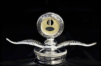 Photograph - 1930 Ford Hood Ornament  by Saija  Lehtonen