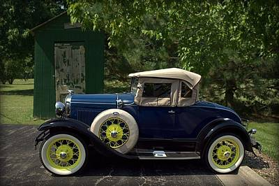 Photograph - 1930 Ford Model A Deluxe Roadster by Tim McCullough