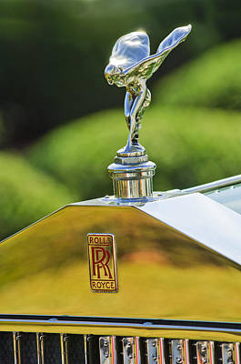 Photograph - 1930 Rolls-royce Phantom I Transformal Phaeton Hood Ornament by Jill Reger