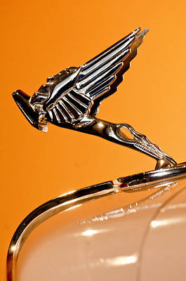 Photograph - 1931 Cord L-29 Legrande Speedster Hood Ornament 4 by Jill Reger