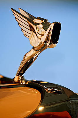 Photograph - 1931 Cord L-29 Legrande Speedster Hood Ornament 5 by Jill Reger