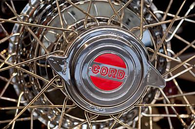 Photograph - 1931 Cord L-29 Legrande Speedster Wheel Emblem by Jill Reger