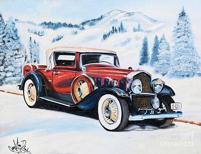 1931 La Salle Convertible Coupe Art Print by Cheryl Poland
