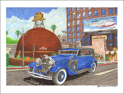 Rich Brown Frame Painting - 1931 Lincoln K Dietrich Phaeton by Jack Pumphrey