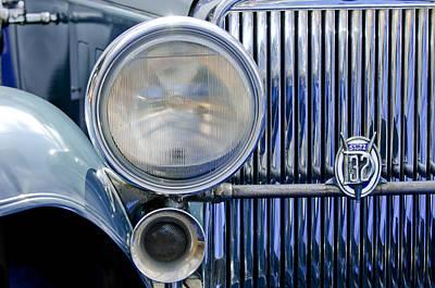 Photograph - 1931 Stutz Dv-32 Convertible Sedan Grille Emblem by Jill Reger
