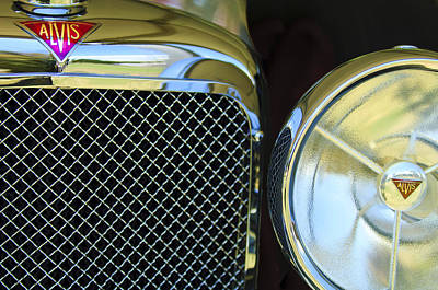 Photograph - 1932 Alvis-6 Speed 20 Sa Grille Emblem by Jill Reger