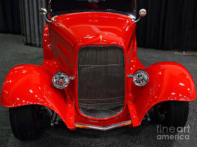 1932 Ford Roadster . Red . 7d9286 Art Print by Wingsdomain Art and Photography