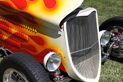 1933 Ford Roadster With Flames . 5d16237 Art Print by Wingsdomain Art and Photography