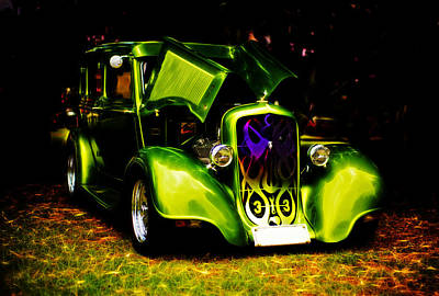 Phil Motography Clark Photograph - 1933 Plymouth Hot Rod by Phil 'motography' Clark