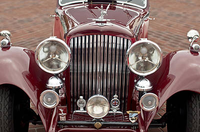 Photograph - 1934 Bentley 3.5-litre Drophead Coupe Grille by Jill Reger