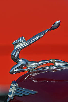 Photograph - 1934 Buick Series 50 Goddess Hood Ornament by Jill Reger