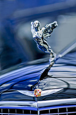 Photograph - 1934 Cadillac V-16 452 Two-passenger Stationary Coupe Hood Ornament And Emblem by Jill Reger