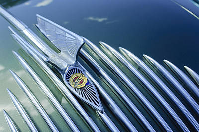 Photograph - 1934 Chrysler Airflow Hood Ornament by Jill Reger
