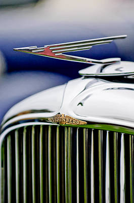 Photograph - 1934 Duesenberg J Murphy Convertible Coupe Hood Ornament by Jill Reger