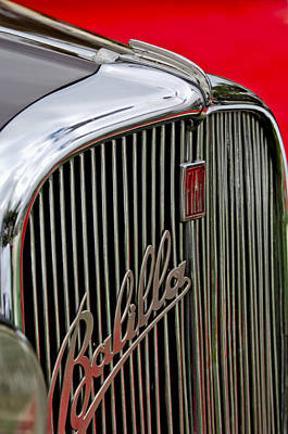 Photograph - 1934 Fiat Balilla Hood-grille Ornament by Jill Reger
