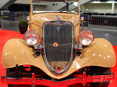 Photograph - 1934 Ford Model 40 Deluxe Cabriolet . 7d9200 by Wingsdomain Art and Photography