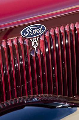Photograph - 1934 Ford V8 Emblem 2 by Jill Reger