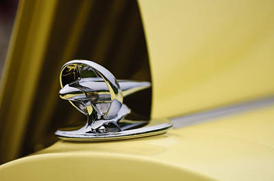 Photograph - 1934 Packard 1106 Twelve Lebaron Runabout Hood Ornament  by Jill Reger