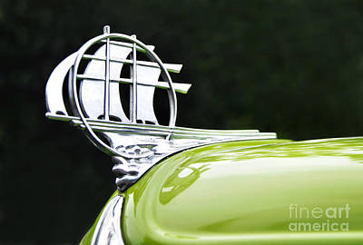 Photograph - 1934 Plymouth - Hood Ornament by Kaye Menner