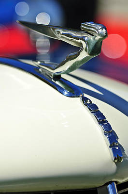 Photograph - 1935 Auburn Hood Ornament 5 by Jill Reger