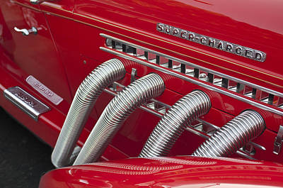 Photograph - 1935 Auburn Side Pipes by Jill Reger