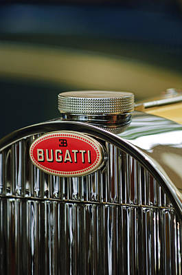 Photograph - 1935 Bugatti Type 57 Grand Raid Roadster Emblem by Jill Reger