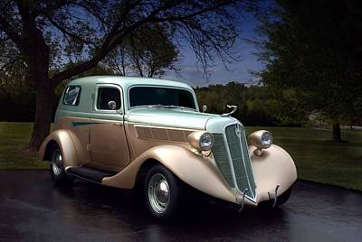 Photograph - 1935 Studebaker Panel Van by Tim McCullough