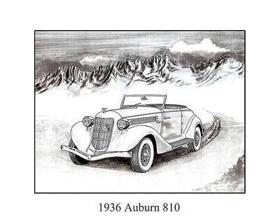 1936 Auburn 810 Art Print