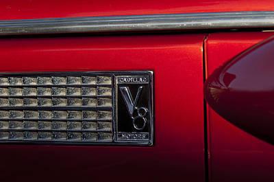 1937 Cadillac V8 Photograph - 1937 Cadillac V8 Emblem by Jill Reger