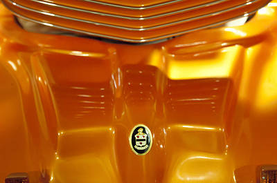 Photograph - 1937 Cord 812 Custom Electric Car Hood Emblem by Jill Reger