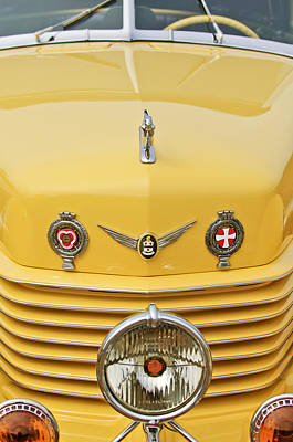 Photograph - 1937 Cord 812 Sc Convertible Phaeton Sedan Grille Emblems by Jill Reger