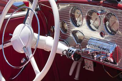 Photograph - 1937 Cord 812 Sc Phaeton Steering Wheel by Jill Reger
