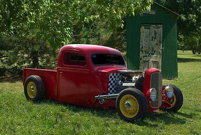 Photograph - 1937 Ford Hot Rod Pickup Truck by Tim McCullough