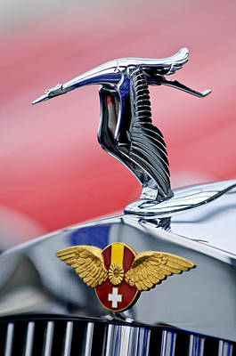 Photograph - 1937 Hispano-suiza Hood Ornament by Jill Reger
