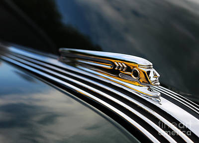 Photograph - 1937 Pontiac Torpedo Indian Head Hood Ornament  II by Lee Dos Santos